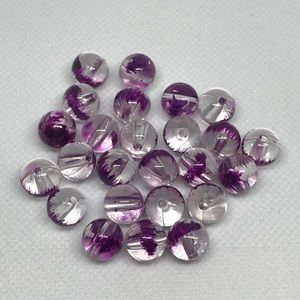 Jewelry - PURPLE AND CLEAR BEADS